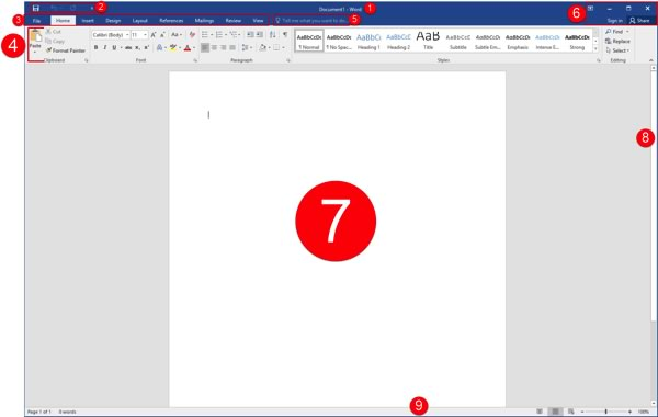 MS Word Interface